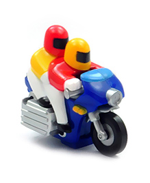 Baby Steps Speedy Motorcycle Pull Back Toy