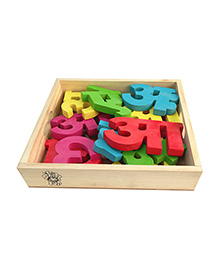 Skillofun Hindi Vowels Wooden Blocks - Multi Colour