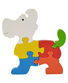 Skillofun Take Apart Wooden Puzzle Large Dog - Mulitcolour