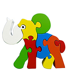 Skillofun Take Apart Wooden Puzzle Elephant - Mulitcolour