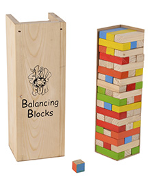 Skillofun Wooden Balancing Blocks - Multicolour