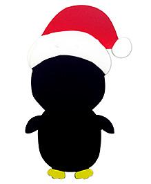 Skillofun Black Chalk Board - Santa Penguin Shape