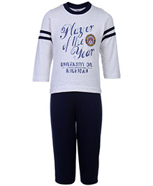 Zero Full Sleeves T-Shirt And Legging Set - Player of the Year Print