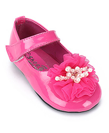 Shoebiz Party Bellies Pink - Floral Applique