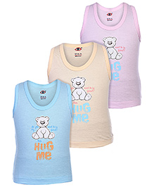 Zero Sleeveless Vests - Set Of 3