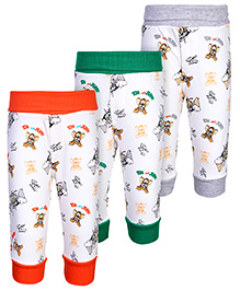 Cucumber Leggings Tom And Jerry Print - Set of 3