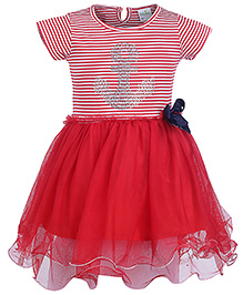 Babyhug Half Sleeves Party Frock