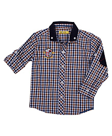 Gini & Jony Full Sleeves Checks Shirt - Sports Club Patch