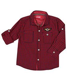 Gini & Jony Full Sleeves Checks Shirt - GJ Patch