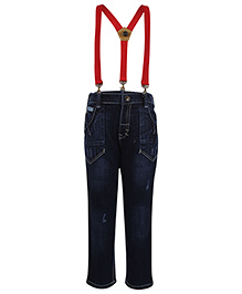Gini & Jony Denim Jeans With Suspenders - Blue