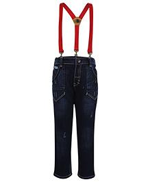Gini & Jony Denim Jeans With Suspenders - Blue