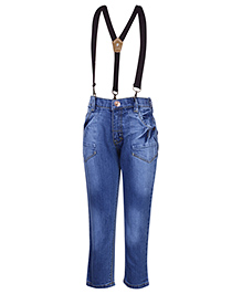 Gini & Jony Stone Wash Jeans With Suspenders - Blue