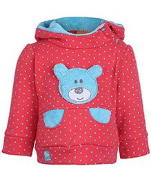 Little Kangaroos Thermal Hooded T-Shirt - Pink