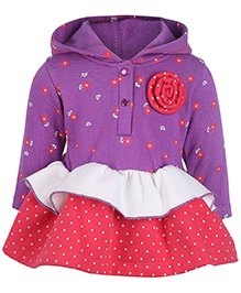 Little Kangaroos Hooded Party Frock