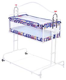 New Natraj Compact Cradle Multi Print - Blue