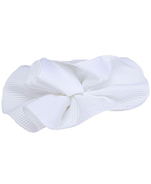 NeedyBee Hair Clip Floral Applique - White