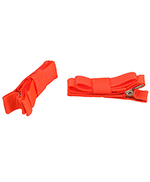 NeedyBee Double Deck Clip Orange - Pack Of 2
