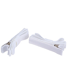 NeedyBee Double Deck Clip White - Pack Of 2