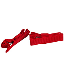 NeedyBee Double Deck Clip Red - Pack Of 2