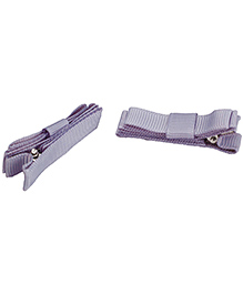NeedyBee Double Deck Clip Silver - Pack Of 2