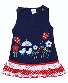 Babyhug Sleeveless Frock - Embroidery Work