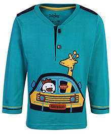 Babyhug Full Sleeves T-Shirt - Giraffe Print