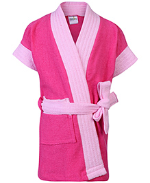 Babyhug Half Sleeves Bathrobe - Pink