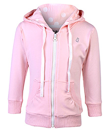 Gini & Jony Full Sleeves Hooded Jacket - Peach