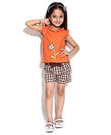 ShopperTree Top And Shorts Set - Check Print