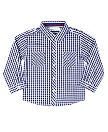 ShopperTree Toddler Shirt - Blue Checks