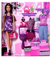 Barbie Trendy Clothes Set Purple 3 Years+, Fashion set for Barbie lovers