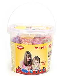 Mitashi Sky Doh With 24 Color Play Dough - 1200 gm