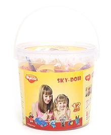Mitashi Sky Doh With 12 Color Play Dough - 600 gm