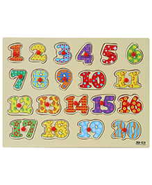 Fab N Funky Wooden Number Puzzle - 20 Pieces