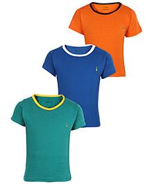 Babyhug Half Sleeves T-Shirt Solid Color - Set of 3