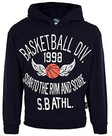 Cucu Fun Full Sleeves Hooded T-Shirt - Basketball Print