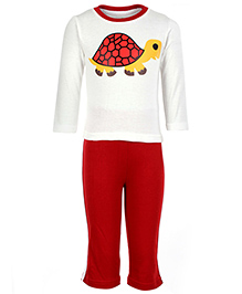 Babyhug Full Sleeves T-Shirt And Legging - Tortoise Print