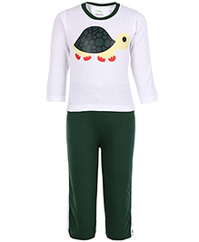 Babyhug Full Sleeves T-Shirt And Legging - Tortoise Print