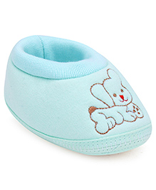 Cute Walk Baby Booties Dog Embroidery