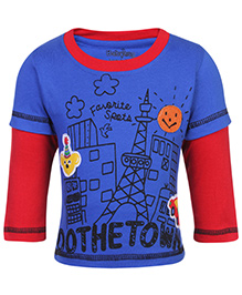 Babyhug Doctor Sleeves T-Shirt - Do The Town Print