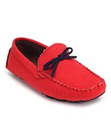 Doink Loafers Slip On - Bow Applique
