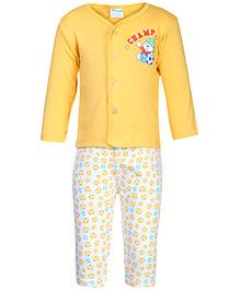 Tango Full Sleeve T-Shirt And Legging - Yellow