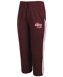 Cucu Fun Track Pant With Drawstring - Maroon
