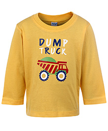 Tango Full Sleeves T-Shirt Yellow - Truck Print - 3 To 6 Months