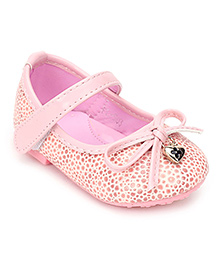 Sweet Year Party Belly Shoes Bow Applique - Pink
