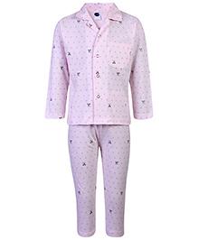 Teddy Full Sleeves Night Suit