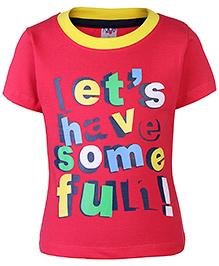 Paaple Half Sleeves T-Shirt Red - Printed