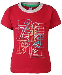 Paaple Half Sleeves T-Shirt Marron - Number Print