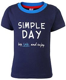 Paaple Half Sleeves T-Shirt Navy Blue - Simple Day Print