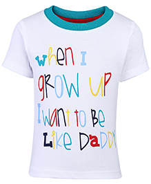 Paaple Half Sleeves T-Shirt White And Green - Printed